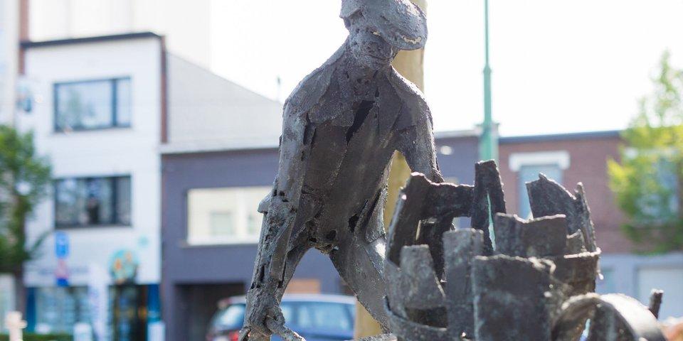 Kunstwerk 'Den Hobokenaar'