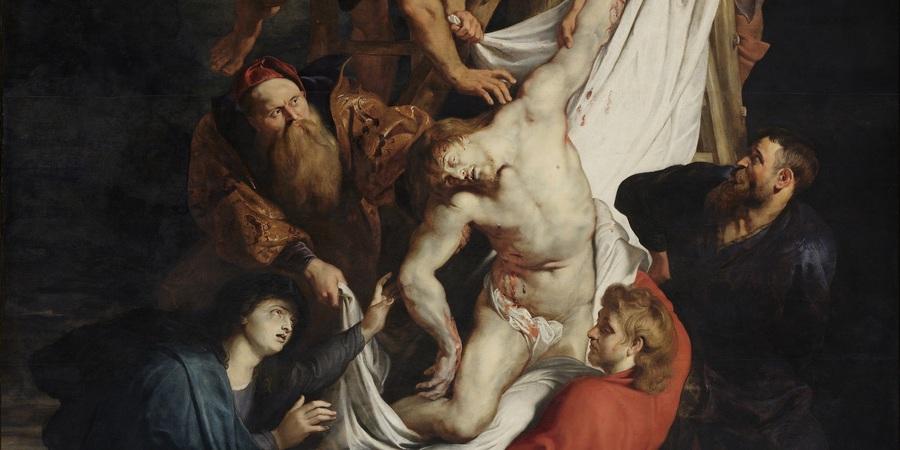 De kruisafneming van Christus (detail), P.P. Rubens, 1611-1614