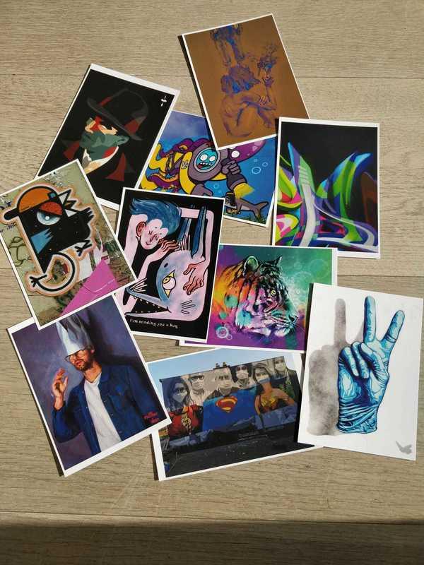 Clap Art postkaart actie