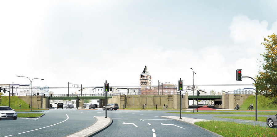 Het ontwerp voor beide poorten door RE-ST Architecten.