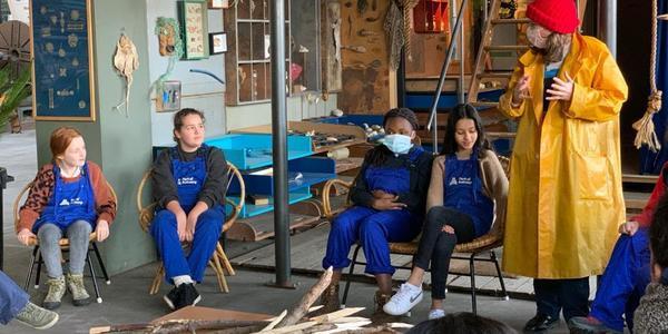 Het Junior Team bij Stormkop
