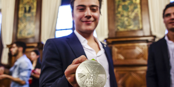 Red Lion Thomas Briels is trots op zijn zilveren medaille.