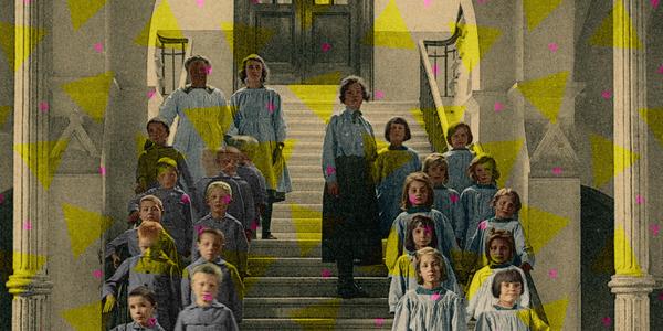 Foto van weeskinderen