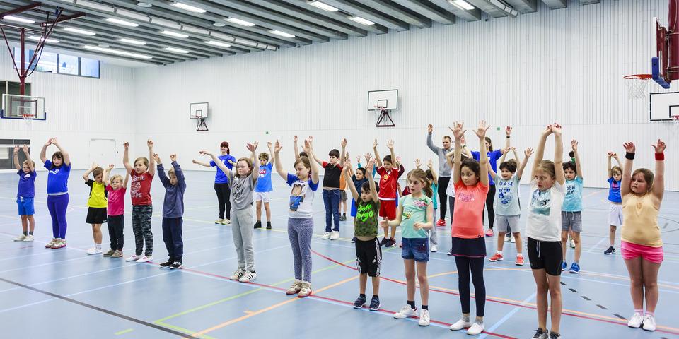 Antwerpse Sportweken in schoolsporthal Sint-Ludgardis