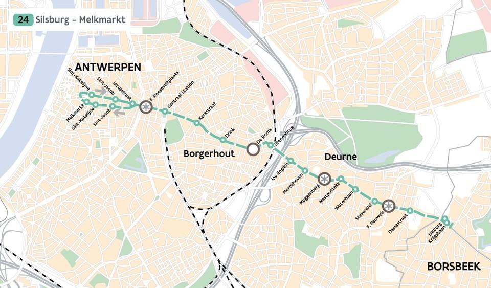 Plan tram 24