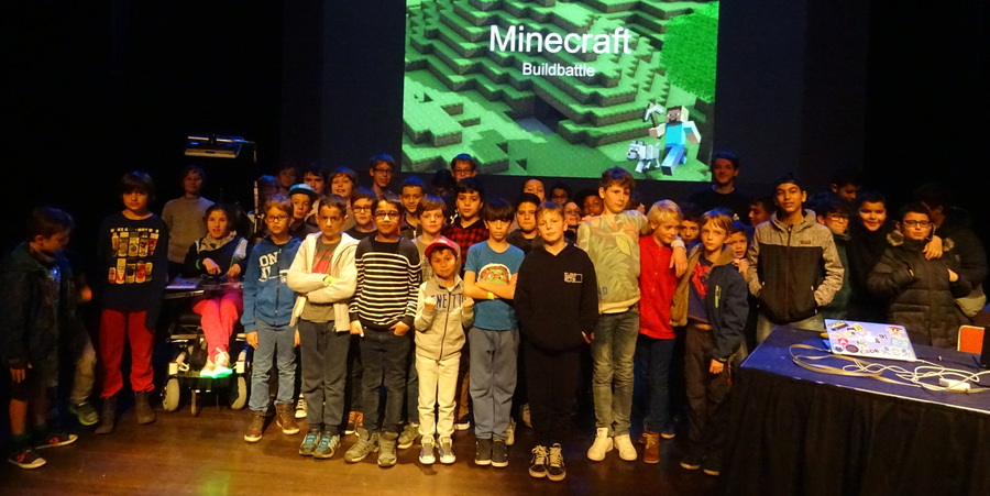 De deelnemende teams van de Minecraft Build Battle 2019