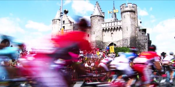 Start van de Tour de France aan het Antwerpse Steen