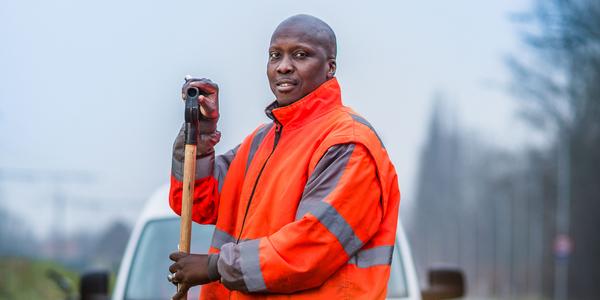 Portretbeeld van stadsmedewerker Gana