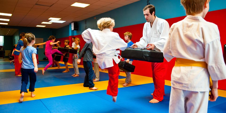 Sportieve fun tijdens de Antwerpse Sportweek jiu-jitsu