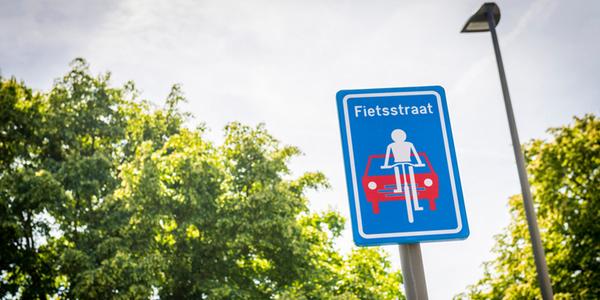Verkeersbord van een fietsstraat