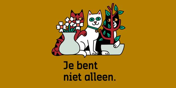 Illustratie van 3 katten