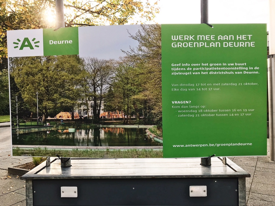 Deurnenaars konden meewerken aan het Groenplan Deurne tijdens de infotentoonstelling in het districtshuis.