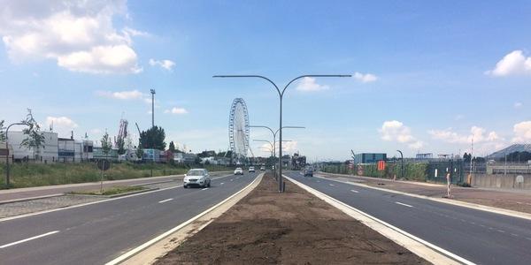 De wegenwerken op de Noordersingel zijn klaar.  In het najaar volgt de aanplanting van de bomen en struiken.