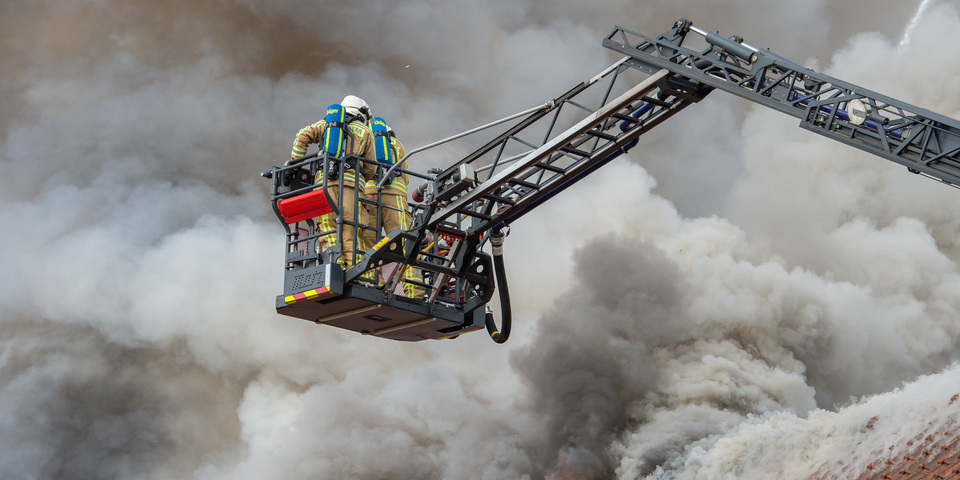 Brand rook Ekeren brandweerman