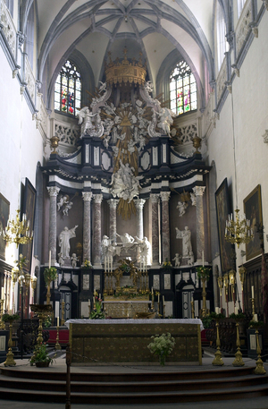 Sint-Andrieskerk: het barokke hoofdaltaar