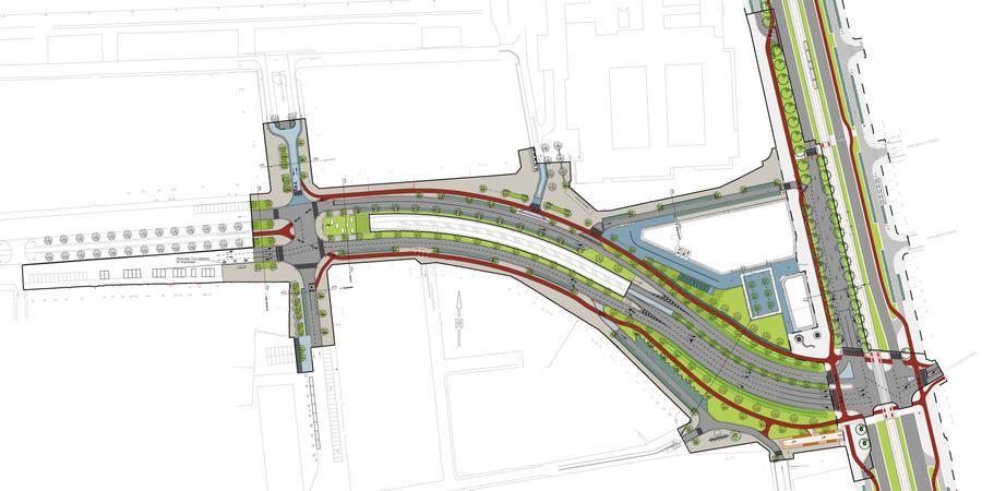 Plan toekomstige Tunnelplaats en Ankerrui