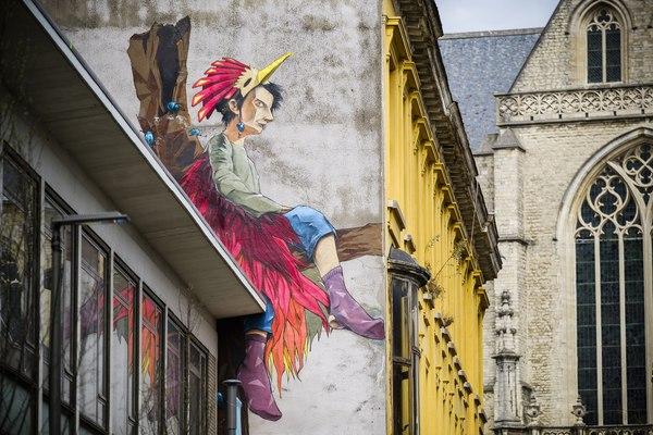 Dreamin' door Larsen Bervoets. Ontdek streetart in hartje Antwerpen met de Antwerp Museum App