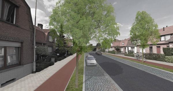 3D ontwerp van hoe de Arbeidersstraat er na de heraanleg uit gaat zien