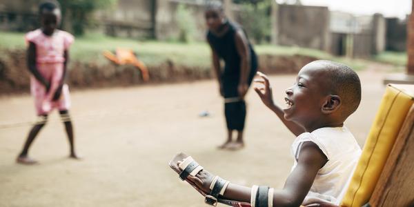 Spelende Ugandese kinderen