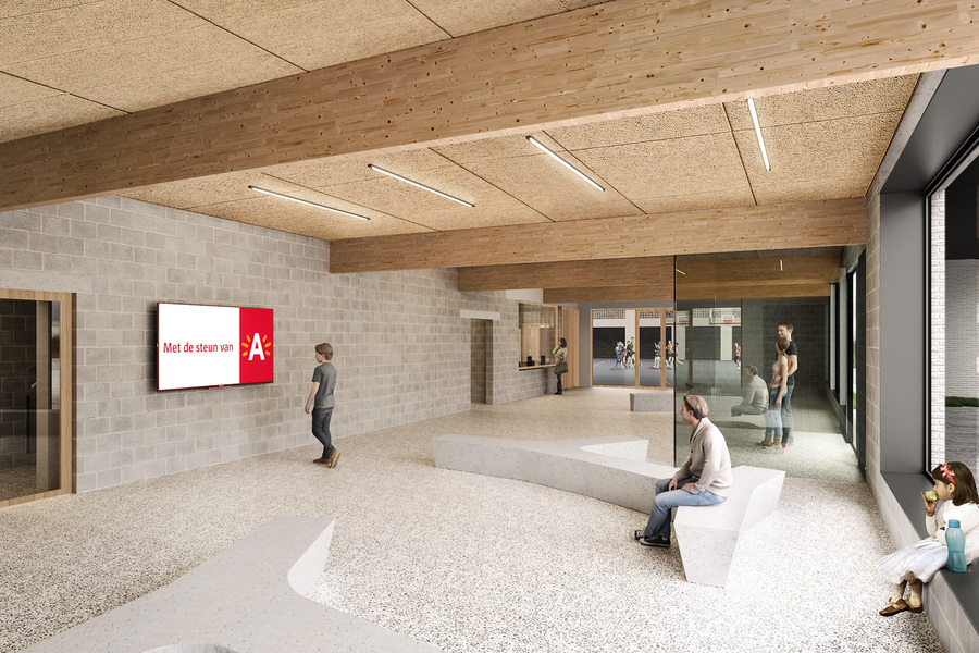 Simulatie inkomzone sportcomplex De Rode Loop