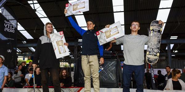 Het podium van de Antwerp Skate Contest