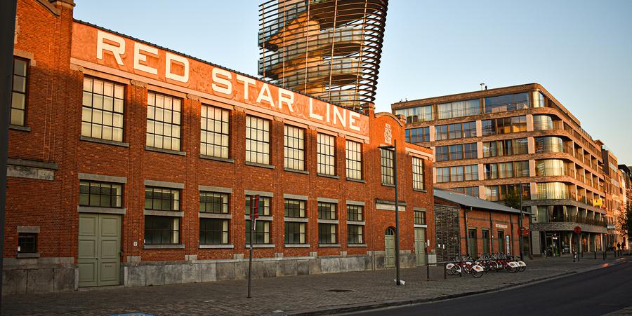 De voorgevel van het Red Star Line museum