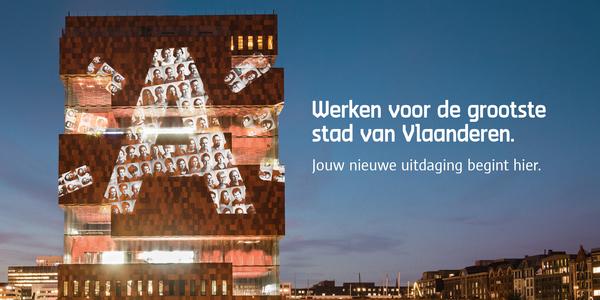 MAS-gebouw met de stralende A voor vacature: innovatieve manager mobiliteit voor stad Antwerpen