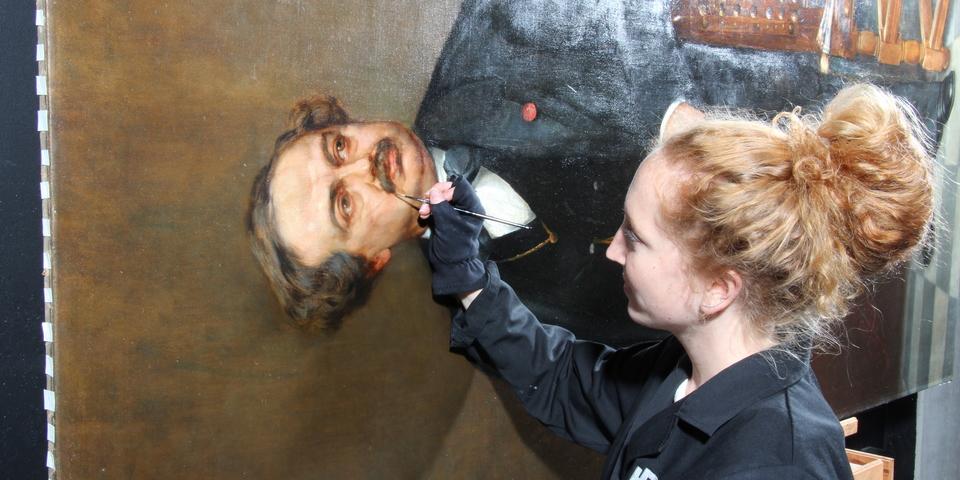 Portret van baron Gustaaf Wappers door Charles Boom