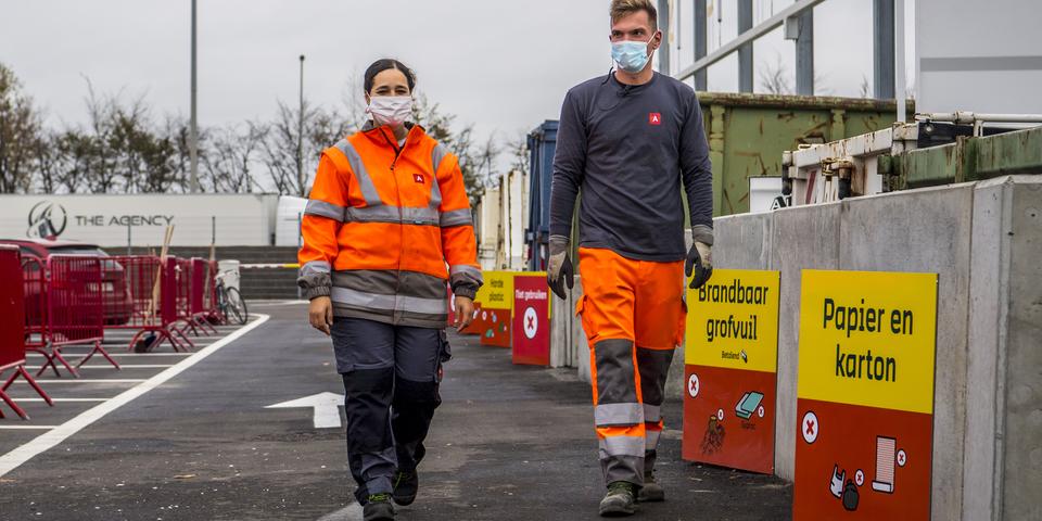 medewerkers recyclagepark
