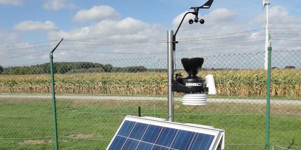 Het weerstation van het project Vlinder