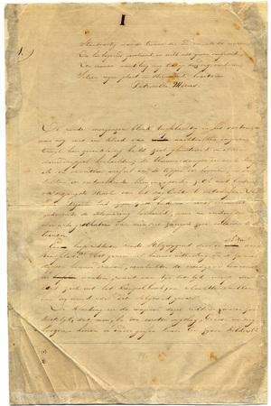 Eerste pagina van het nethandschrift van 'De Leeuw van