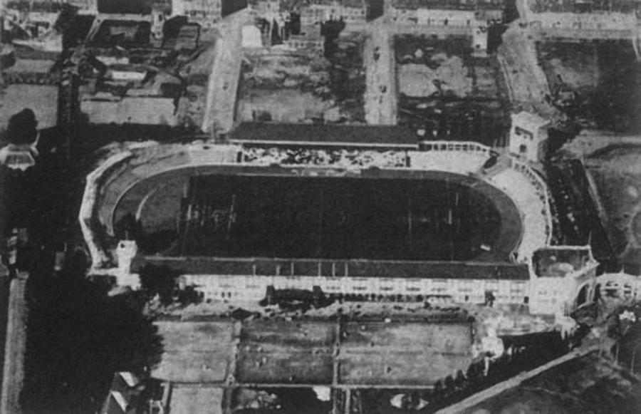 Luchtfoto Olympisch Stadion Kiel 1920