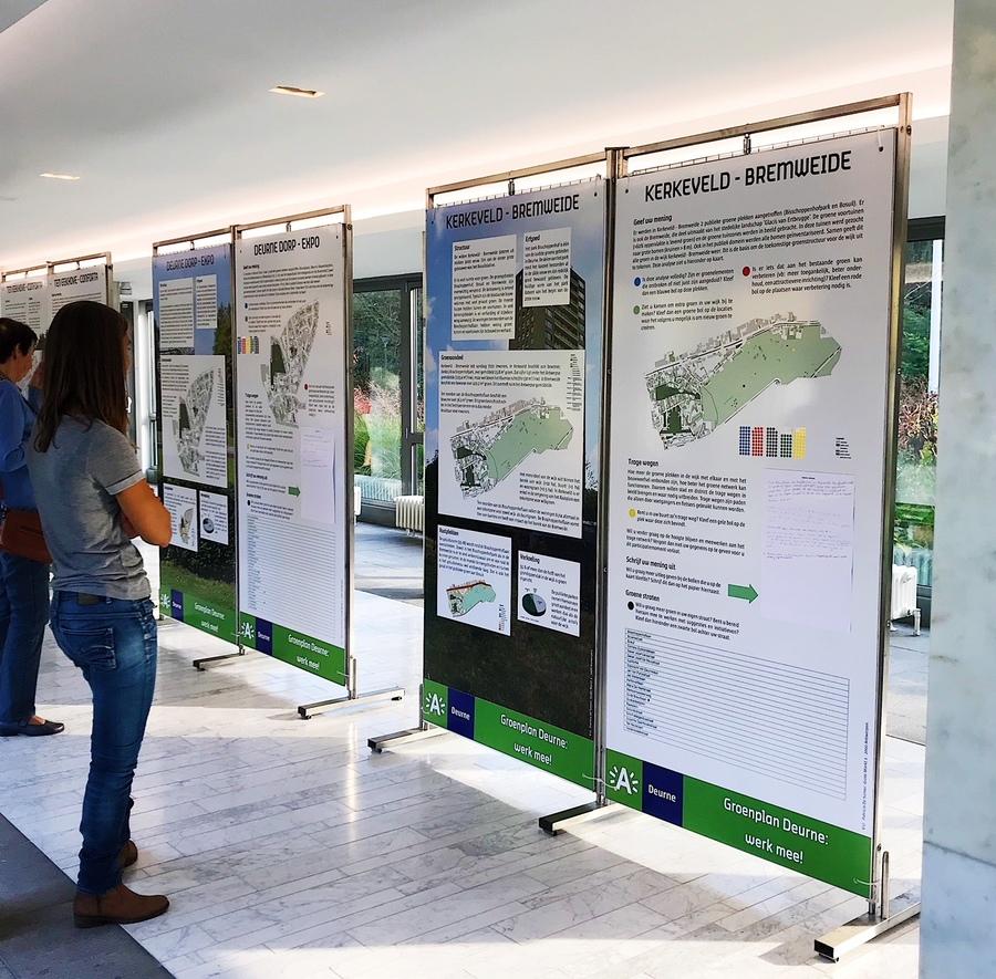 Meer dan 180 Deurnenaars werkten mee aan het Groenplan Deurne tijdens de infotentoonstelling in het districtshuis.