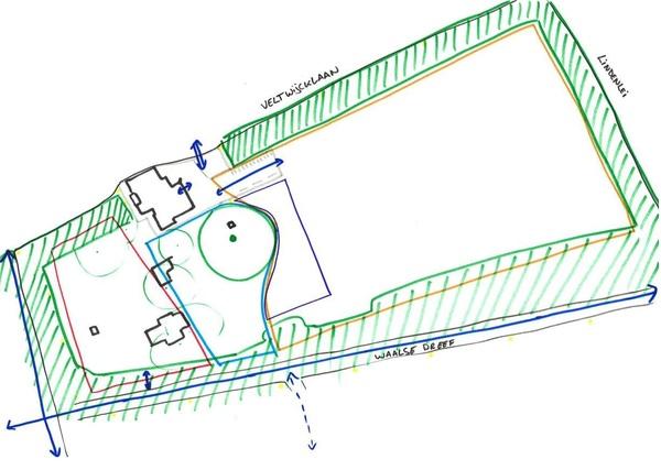 Concept sportcluster en omgeving in het Veltwijckpark