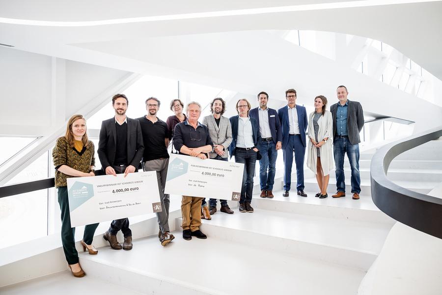 Dit zijn de 5 kandidaten van Het Schoonste Gebouw 2017. De winnaars hebben elk een cheque van 4.000 euro in ontvangst genomen.