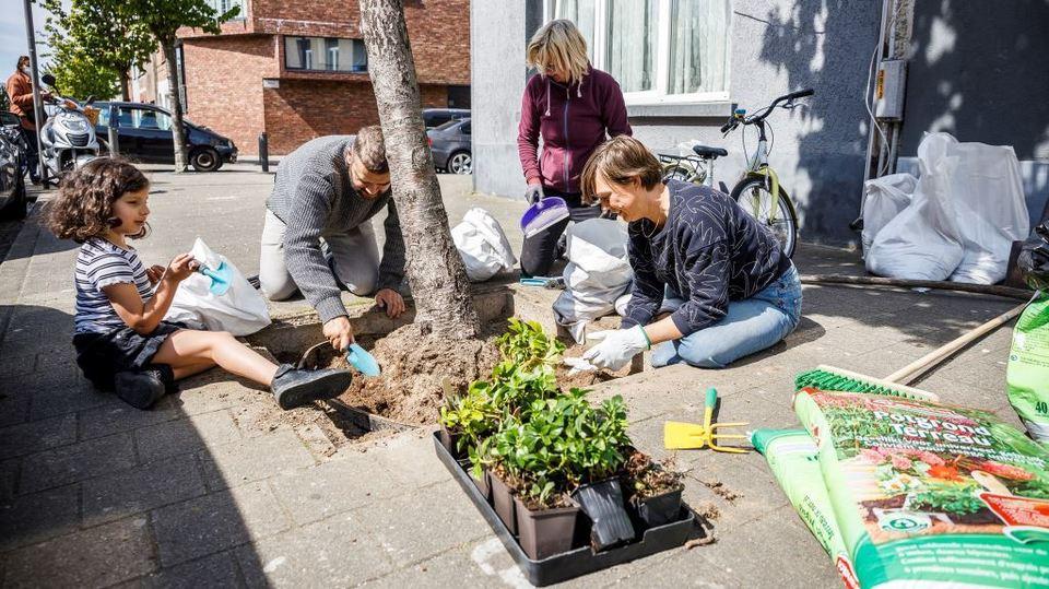 Bewoners onderhouden boomvak