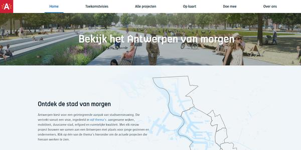 Bekijk het Antwerpen van morgen op www.antwerpenmorgen.be.