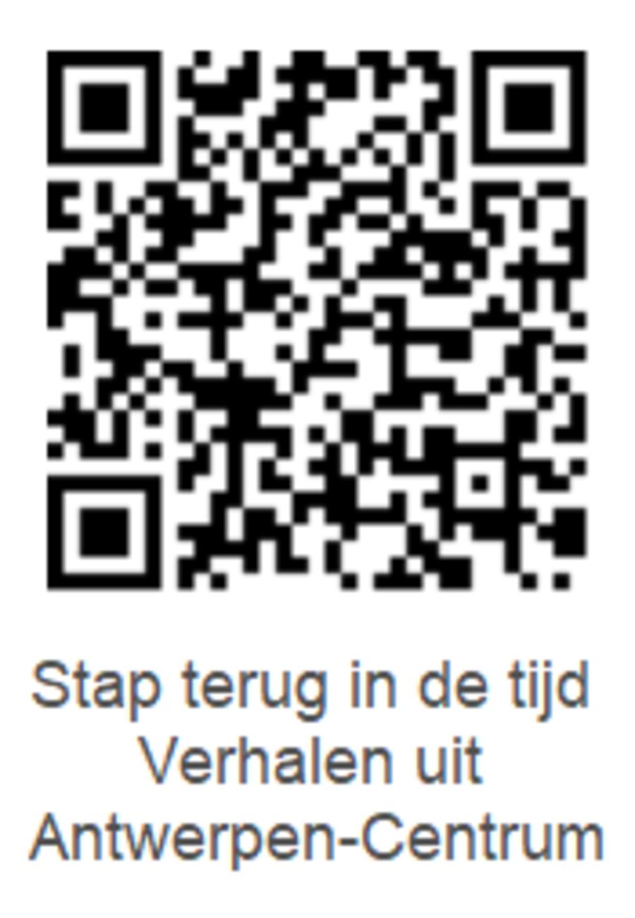 QR-code voor de audiowandeling in Antwerpen-Centrum