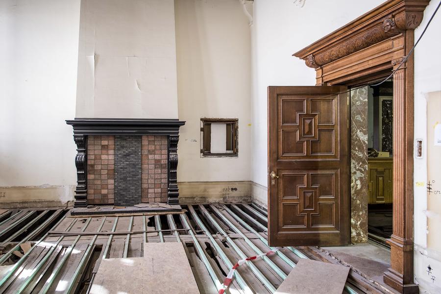 nieuwe leidingen eerste verdieping stadhuis Antwerpen