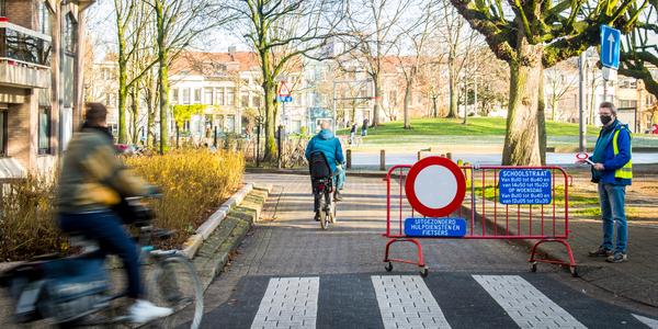 Afbeelding van de schoolstraat Krugerplein (Borgerhout)