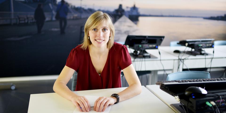 Portretfoto van Anouk, recruiter bij stad Antwerpen