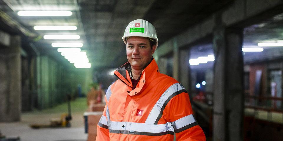 Ingenieur Maarten werkt aan de Noorderlijn