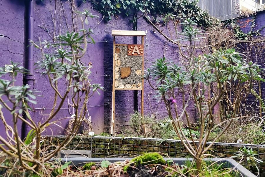 Bijenhotel in het EcoHuis