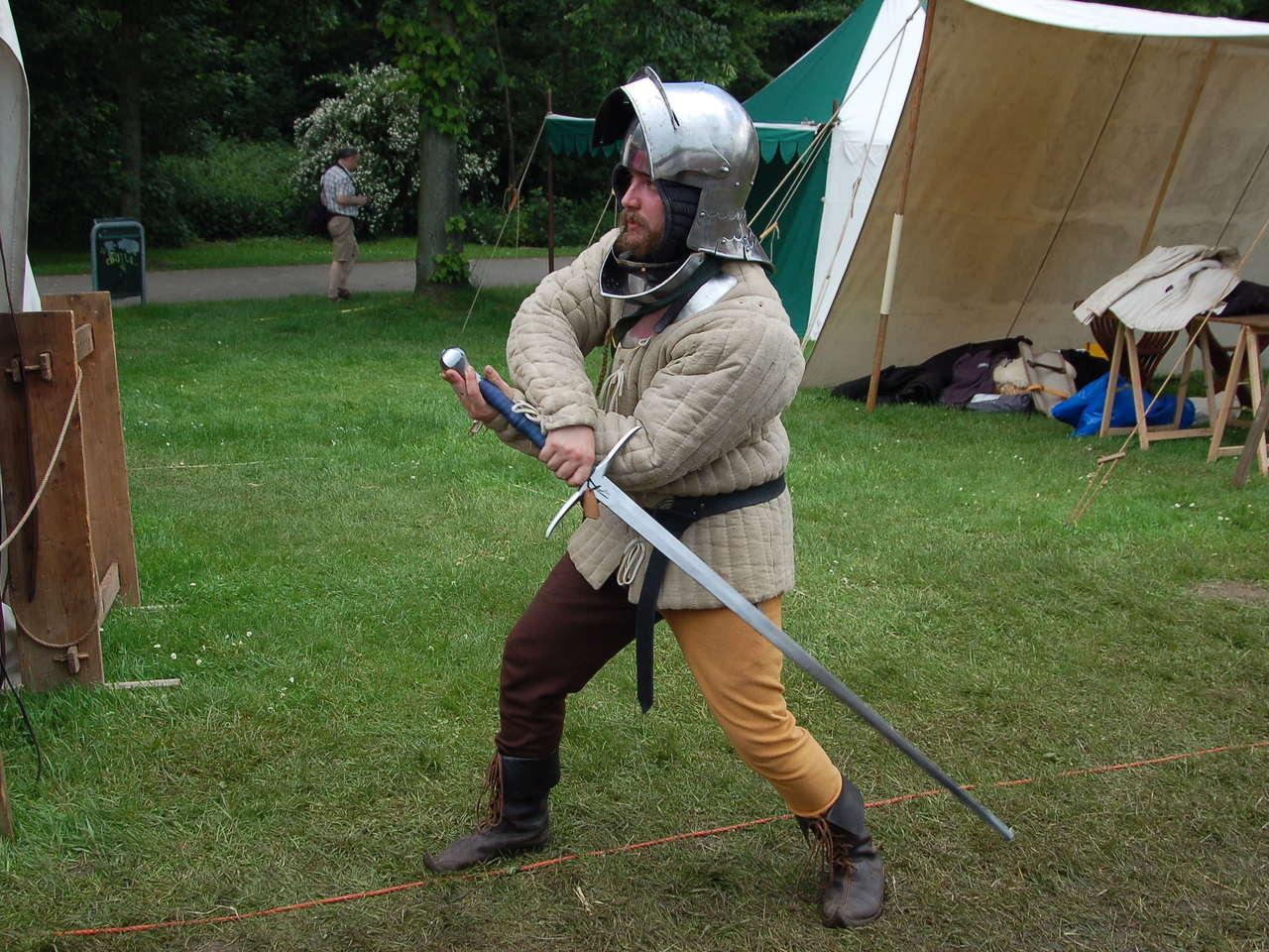 Middeleeuwse zwaardvechter