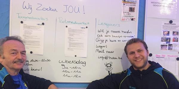 Niels en Gaston van Hoba op zoek naar vrijwilligers