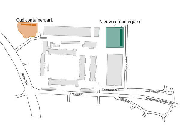 plan containerpark Luchtbal